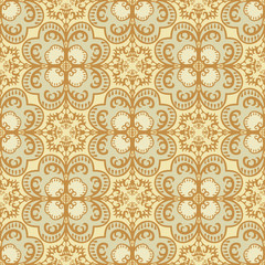 Seamless damask pattern vintage style