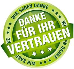"""Button Banner """"Danke für Ihr Vertrauen"""" grün"""