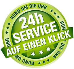 """Button Banner """"24h Service - auf einen Klick"""" grün"""