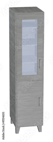 3d render of medical cabinet