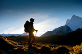 Hiker in Himalaya mountains - Fine Art prints