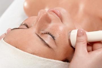 Closeup portrait of beauty treatment