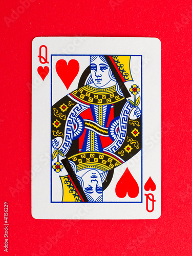 Playing card (queen)