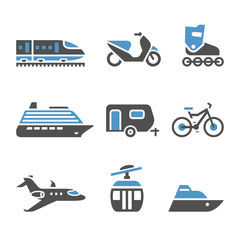 Transport Icons - A set of fifth