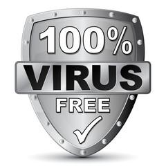 100% VIRUS FREE ICON