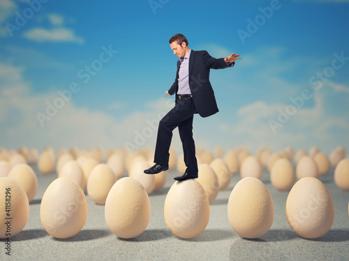 man on eggs