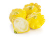 Yellow Pattypan Squashes Isolated