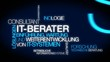 IT-Berater IT-Consultant Weiterentwicklung IT-Systemen tag cloud