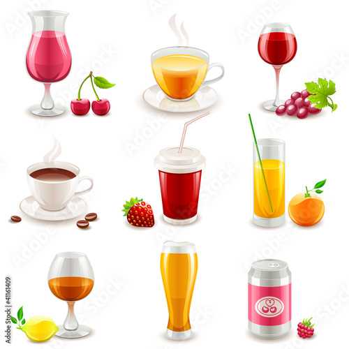 Set of drinks icons
