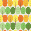 Vector trees seamless pattern