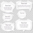 Set of paper text frames