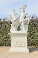 Statue in Belvdere park in Vienna
