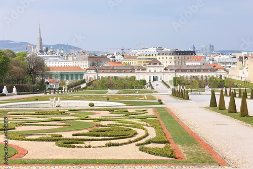 Garden in Belvedere park in Vienna