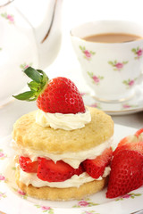 Teatime with Stawberry shortcake