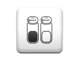 Boton cuadrado blanco simbolo sal y pimienta