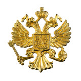 Golden russian  emblem