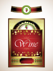 Labels for red wine