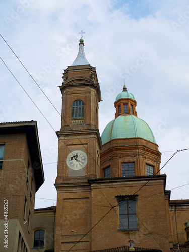 clocktower in Bologna Italy