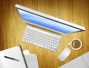 overhead computer
