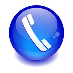 sphere phone icon.