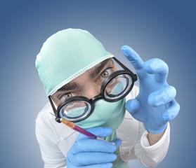 Preparando la intervención quirúrgica.