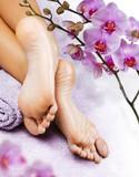 Fototapety Foot massage in the spa salon
