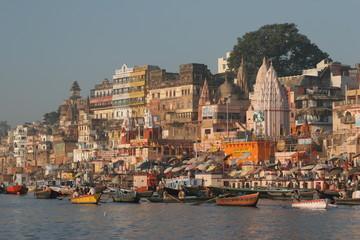Varanasi - Blick vom Fluss