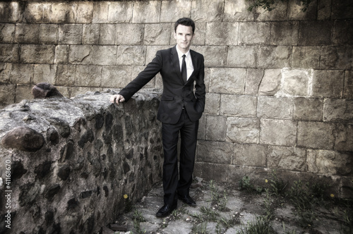 Conceptual Portrait of Stylish Elegant Handsome Man