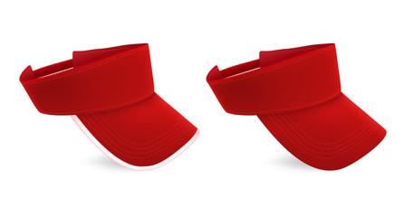 Blank red visor template.