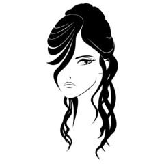 acconciatura donna - capelli lunghi raccolti - coiffeure