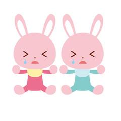 赤ちゃんウサギ 泣く