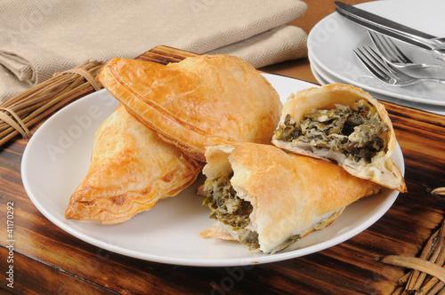 Spinach and cheese empanadas de MSPhotographic, Photo libre de droits ...