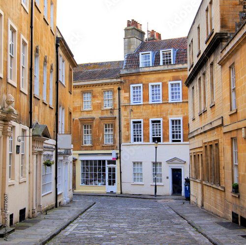 Bath, England - Classic street in the Georgian old town