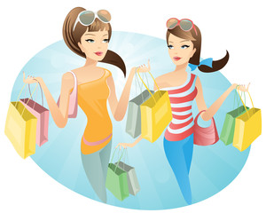 shopping  young women