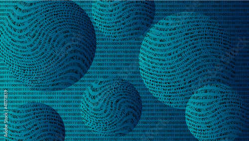 Vector abstract background. Convex balls with text