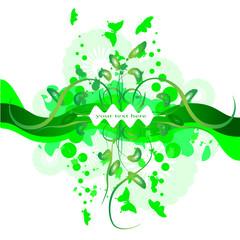 рамка зеленая