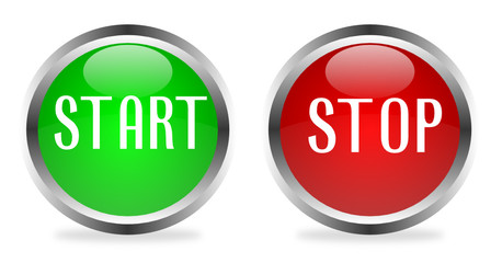 """""""Start-Stop'' glossy icons"""