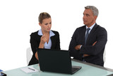 Businesswoman and businesswoman in a meeting