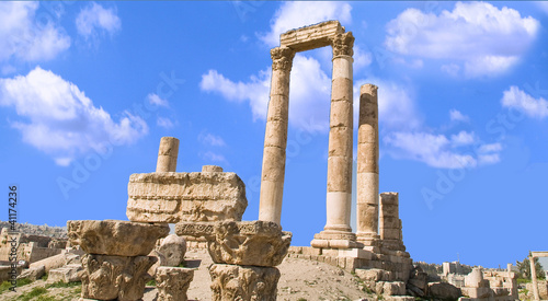 Hercules temple located in Amma, Al-Qasr site, Jordan