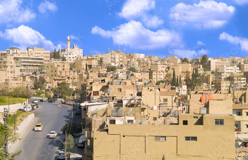 Aerial view of Amman city, Jordan.