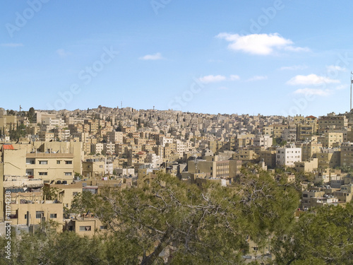 Aeiral view of Amman city, Jordan, Middle East.