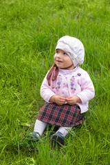 girl on green grass