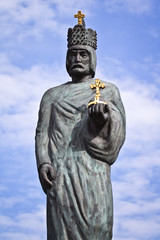 Statue of Emperor Barbarossa in Hamburg