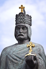 Statue of Emperor Barbarossa in Hamburg