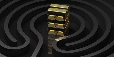Labyrinth Rund Gold