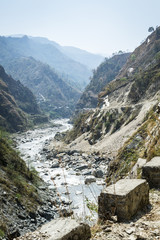 Empty river in Himalaya