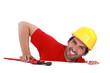 A hurt plumber.