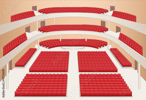 interior of theater hall color plan vector - 41176608