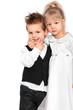 Kinder in festlicher Kleidung