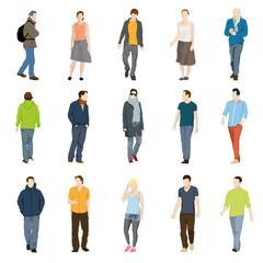15 Silhouetten Jugend modern
